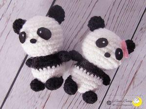 Вяжем амигуруми панду крючком. Ярмарка Мастеров - ручная работа, handmade.