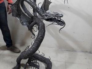 дракон из процесса. Ярмарка Мастеров - ручная работа, handmade.