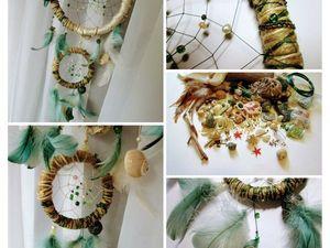 Плетем ловец снов «Морские сокровища». Ярмарка Мастеров - ручная работа, handmade.
