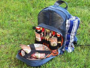 Шьем из джинсовой ткани удобный рюкзак для пикника на берегу моря. Ярмарка Мастеров - ручная работа, handmade.