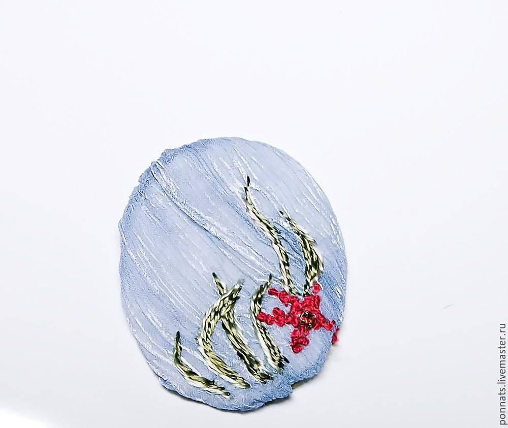 Modeling Textile Earrings with Embroidery, фото № 18