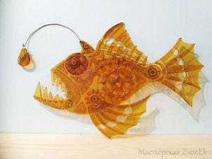 Фьюзинг за полторы минуты: видео мастер-класс по созданию рыбы из стекла. Ярмарка Мастеров - ручная работа, handmade.