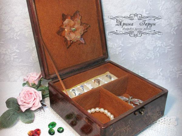 Шкатулка для украшений | Ярмарка Мастеров - ручная работа, handmade