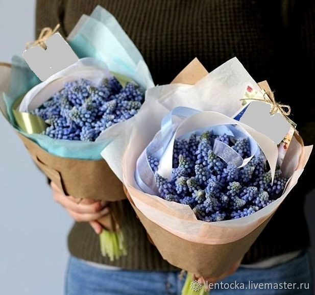 цветы на 8 марта, к 8 марта, мускари, фрезия