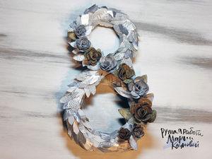 Как сделать декоративное украшение для дома на 8 марта из подручных материалов. Ярмарка Мастеров - ручная работа, handmade.