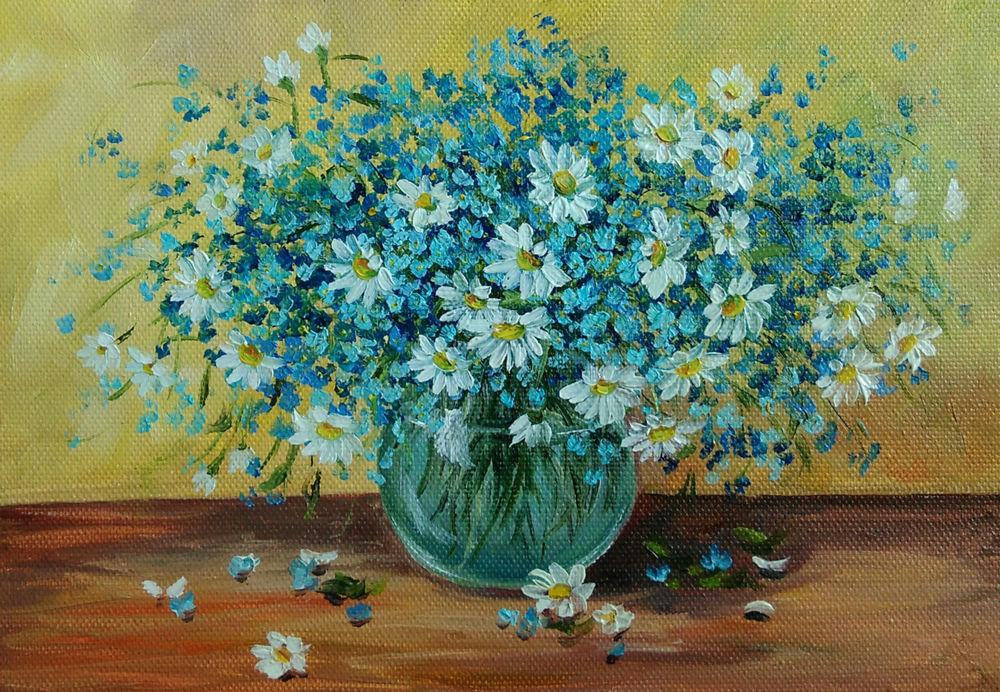скидка на картину, полевые цветы