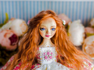 Оливия авторская кукла, интерьерная коллекционная кукла, подарок. Ярмарка Мастеров - ручная работа, handmade.