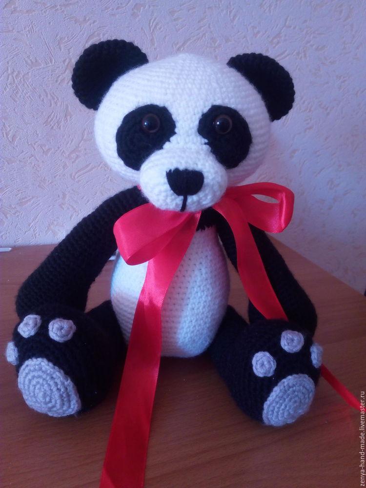 игрушка крючком, панда, акция, скидка