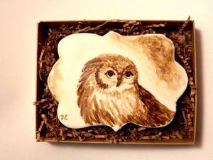 Видео мастер-класс: рисуем кофейную сову на прянике. Ярмарка Мастеров - ручная работа, handmade.