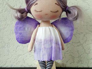 Шьем куколку «лавандовый мотылек» из обрезков ткани | Ярмарка Мастеров - ручная работа, handmade
