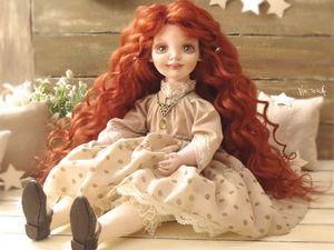 Текстильная кукла Лесли | Ярмарка Мастеров - ручная работа, handmade