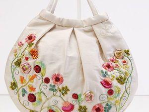 Сумки с вышивкой от мастерицы из Чили Carolina Gana. Ярмарка Мастеров - ручная работа, handmade.