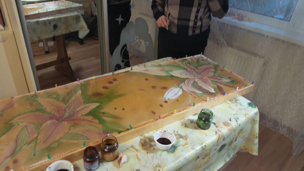 мастер-класс по росписи, батик платок, шибори