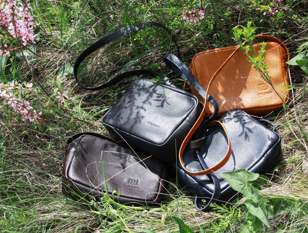скидка, коричневая сумка