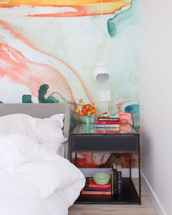 The Tenderest Interior: Abstract Watercolours on Modern Wallpapers, фото № 13