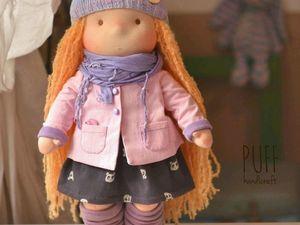 Видео-обзор вальдорфской куколки ростом 42см. Часть первая. Ярмарка Мастеров - ручная работа, handmade.