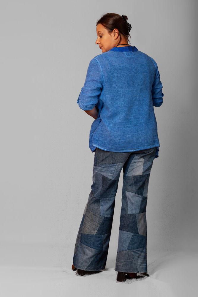 джинсы в стиле пэчворк