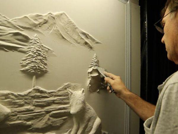 Bernie Mitchell: превращение скучных стен в произведение искусства   Ярмарка Мастеров - ручная работа, handmade