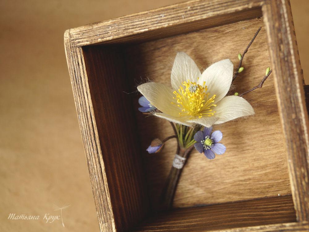 изделия ручной работы, весенние первоцветы