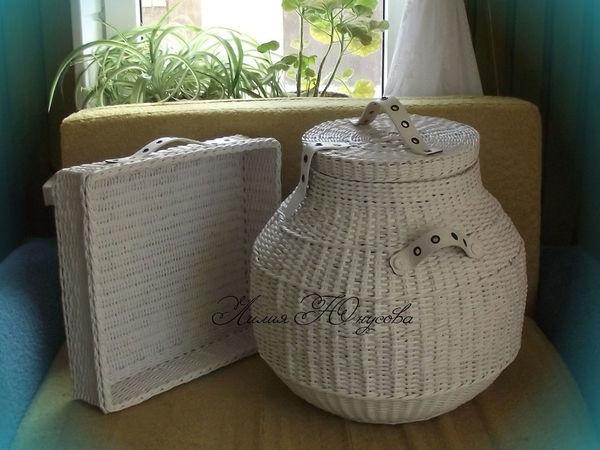 ЭКО-стиль. Короба для сбора и хранения белья | Ярмарка Мастеров - ручная работа, handmade