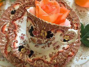 Всем поклонникам стиля ИМАРИ –очаровательное антикварное чайное трио! | Ярмарка Мастеров - ручная работа, handmade