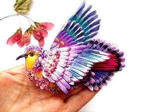 Яркая птичка ждет хозяйку.. Ярмарка Мастеров - ручная работа, handmade.