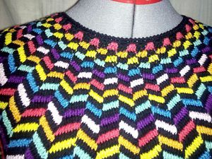 Джемпер. Многоцветное вязание крючком | Ярмарка Мастеров - ручная работа, handmade