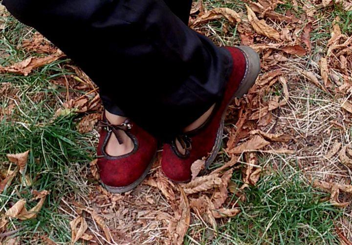 валяные туфельки, туфли из войлока
