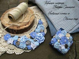 Мастерим текстильное колье в стиле бохо. Ярмарка Мастеров - ручная работа, handmade.