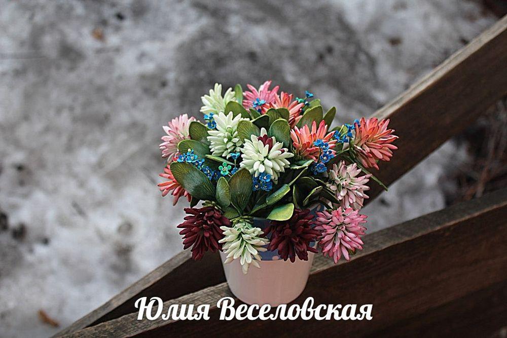 крокусы из фоамирана, весна