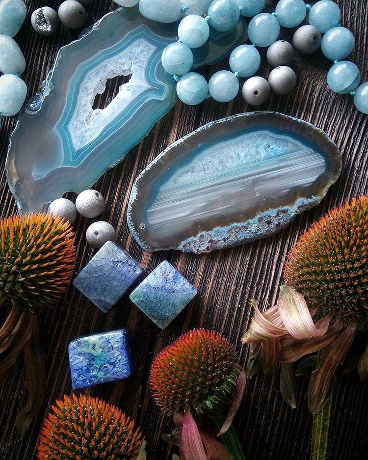 камни, бусины для творчества, колье
