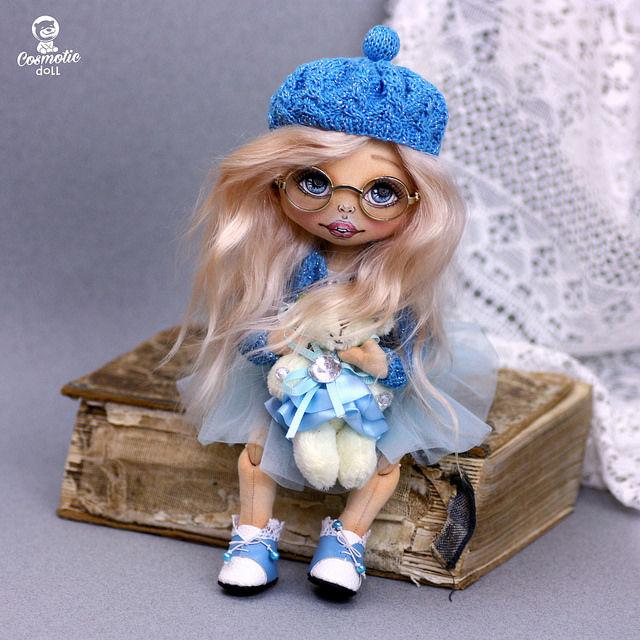 кукла текстильная, textil doll, коллекцтонная кукла
