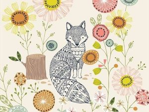 10 добрых осенних иллюстраций Bethan Janine, которые превратились в ткани. Ярмарка Мастеров - ручная работа, handmade.