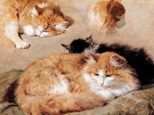 Образ кошек в картинах Henriette Ronner-Knip. Помурлыкаем?. Ярмарка Мастеров - ручная работа, handmade.