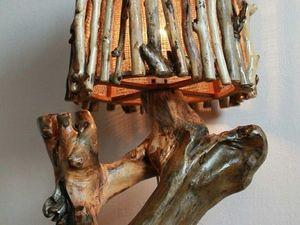Скидка 500 руб на любой светильник из дерева в наличии!. Ярмарка Мастеров - ручная работа, handmade.