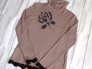 Прорезная апликация на трикотажной блузке. Ярмарка Мастеров - ручная работа, handmade.