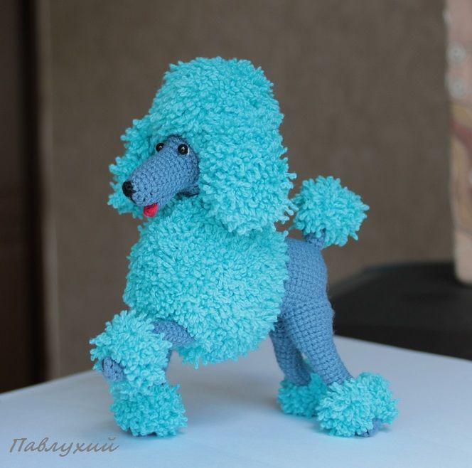 новый год 2018, новогодняя собака, пудель игрушка, игрушка вязаная, вязаная фигурка, собачка игрушка, символ года