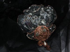 Новое колье. Совушки. Ярмарка Мастеров - ручная работа, handmade.