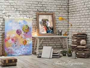 Нежные мечты: картина в наличии. Ярмарка Мастеров - ручная работа, handmade.