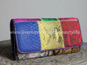Весенний подарок-кошелек из кожи питона | Ярмарка Мастеров - ручная работа, handmade