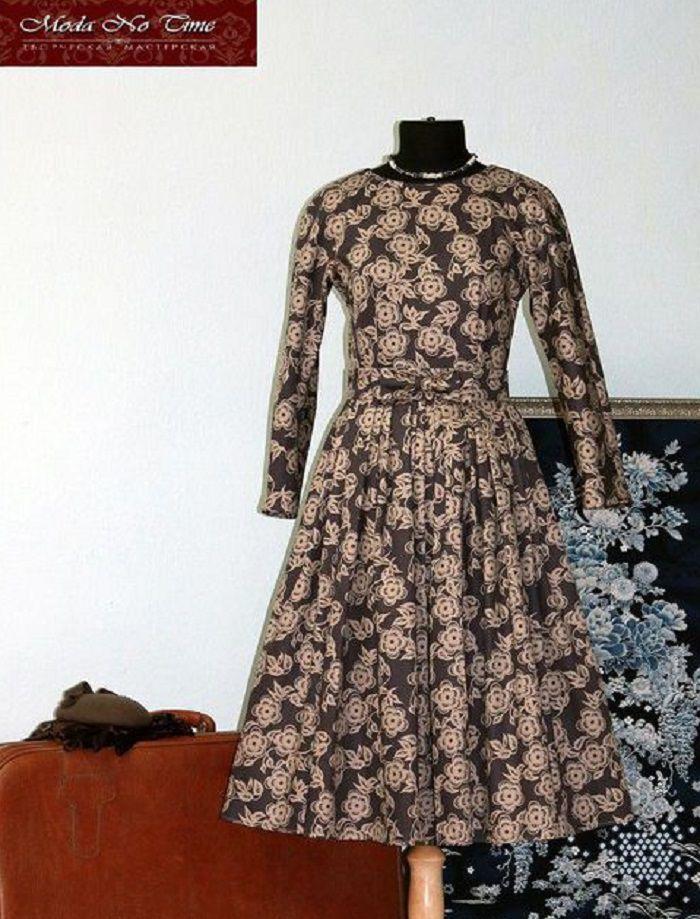 ретро-платье, женский костюм