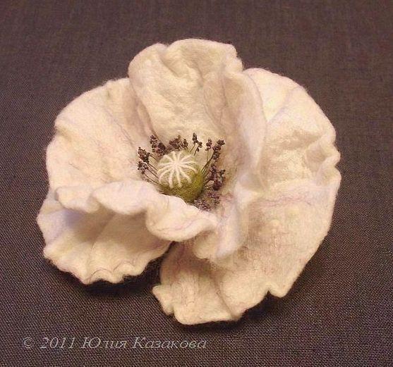 шерсть, валяние на каркасе, цветы, украшения