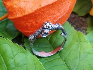 Кольцо Божья коровка из серебра 925 пробы с камешками. Новая версия!. Ярмарка Мастеров - ручная работа, handmade.
