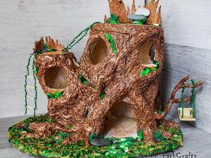 Кукольный дом (домик феи) из папье-маше. Ярмарка Мастеров - ручная работа, handmade.