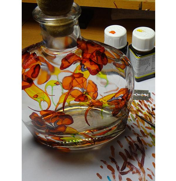 витражная роспись стекла, анонс работы, мастер-класс по росписи
