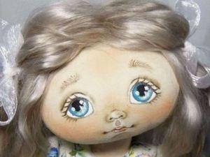 Как самостоятельно изготовить шаблон для прорисовки глазок текстильной куклы: видеоурок | Ярмарка Мастеров - ручная работа, handmade