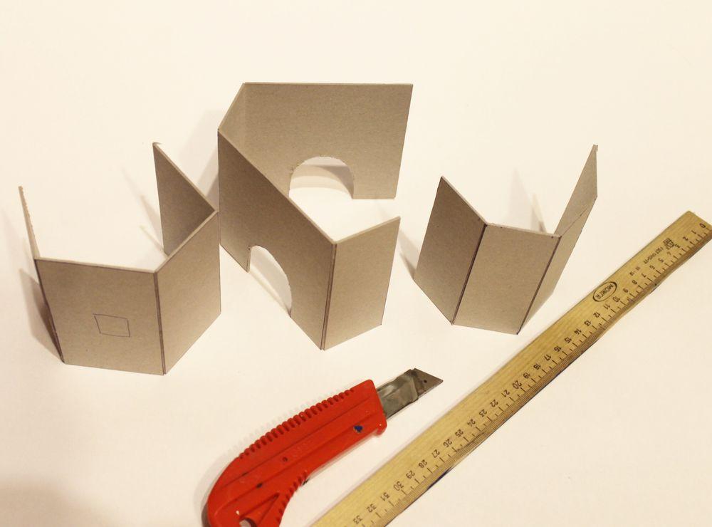 Подставки для карандашей из картона