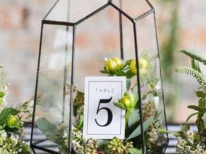 Флорариумы в свадебном декоре: зелень, геометрия и стекло. Ярмарка Мастеров - ручная работа, handmade.