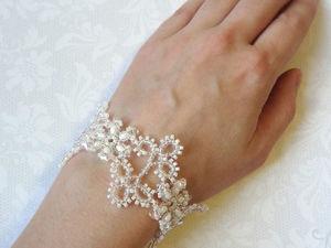 Плетем кружево из бисера: браслет «Морозные узоры». Ярмарка Мастеров - ручная работа, handmade.