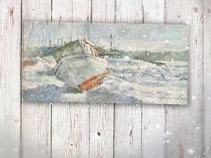 Картина Забытый во льдах. Ярмарка Мастеров - ручная работа, handmade.